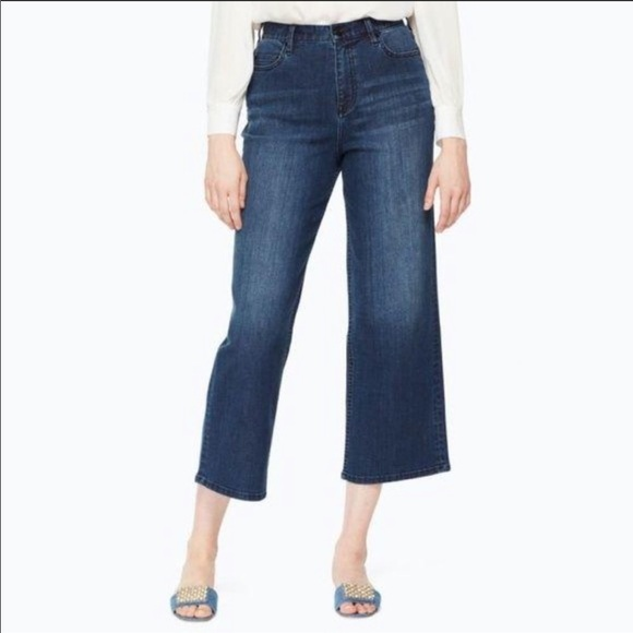 NWT Kate Spade cropped wide denim jeans